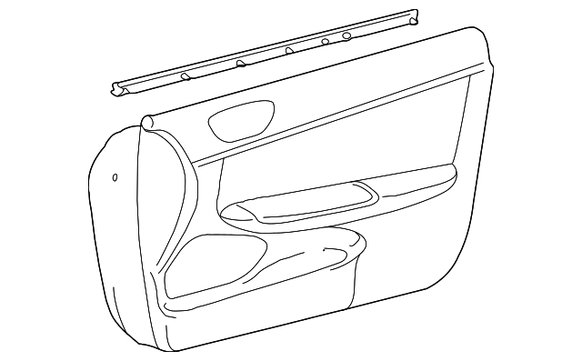 Door Trim Panel - Toyota (67610-AA422-E0)