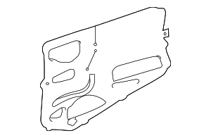 Water Shield - Toyota (67852-08020)