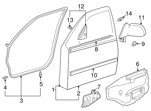 BODY/DOOR & COMPONENTS for 1998 Toyota Corolla #1
