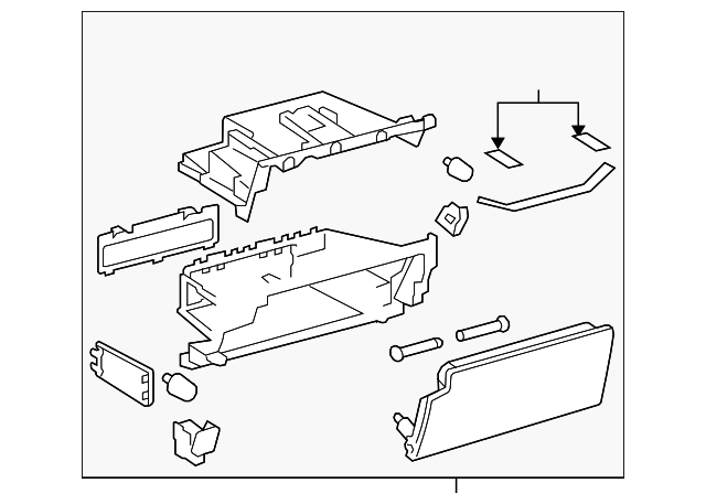 Glove Box Assembly - Toyota (55440-35051-C0)
