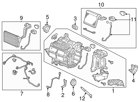 OEM Honda 79140-TR0-A01 - Motor Assembly, Mode Servo