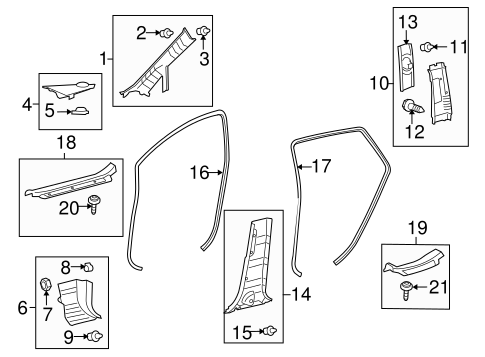 Weather-Strip On Body - Toyota (62331-0T011)