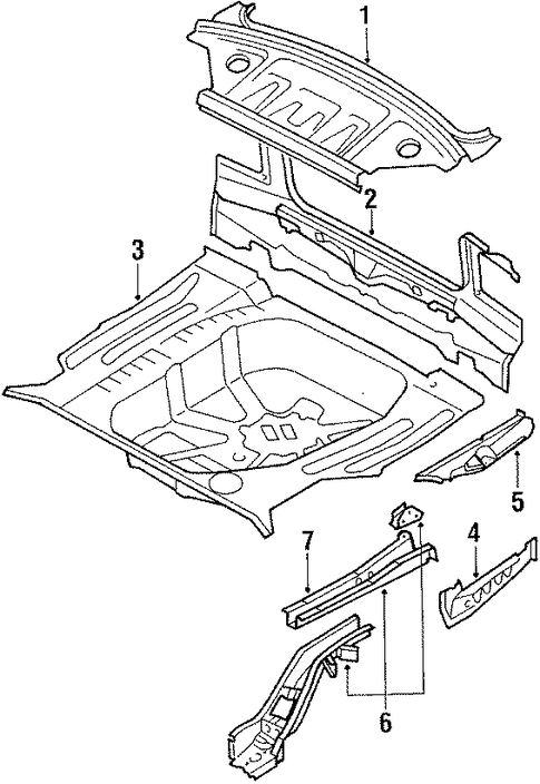 Panel Below Lid - Toyota (58307-1A141)