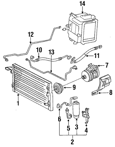 condenser  compressor  u0026 lines for 1990 toyota 4runner