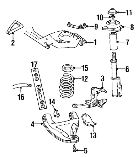 SUSPENSION COMPONENTS Parts for 1988 Chevrolet Camaro #1