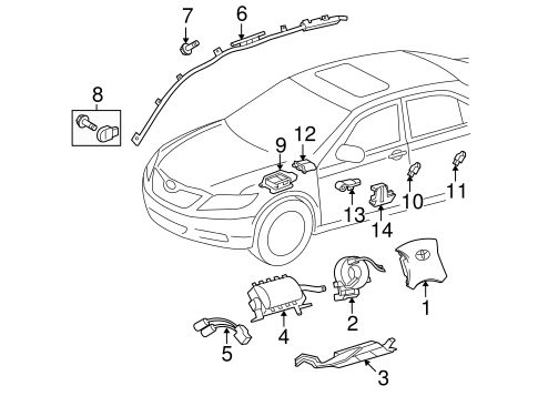 Head Air Bag - Toyota (62170-0T011)