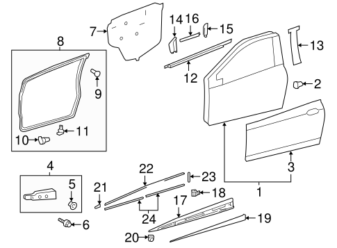 Door Weather-Strip - Toyota (67861-0D131)