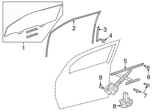 BODY/GLASS - DOOR for 2014 Scion tC #1