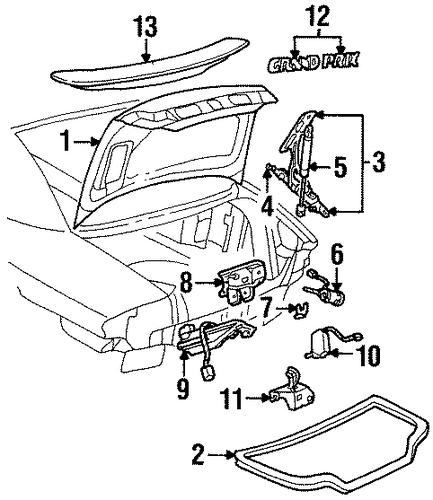 trunk for 2000 pontiac grand prix