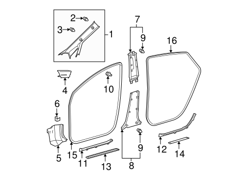 Center Pillar Trim - Toyota (62414-47030-B0)