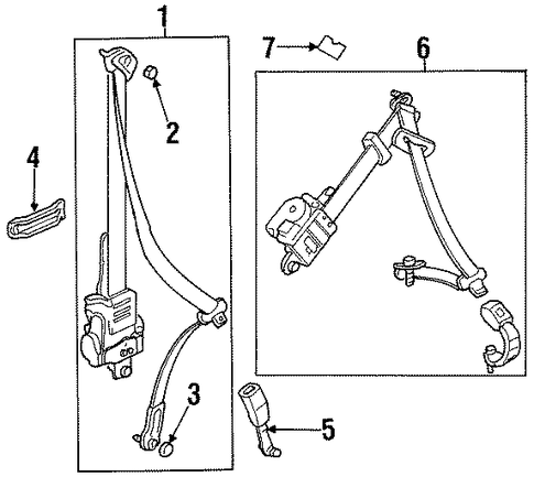 OEM Honda 81495-SE0-A00 - Belt & Retractor Guide