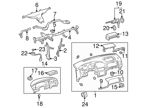 Instrument Panel Center Support - Toyota (55307-08011)