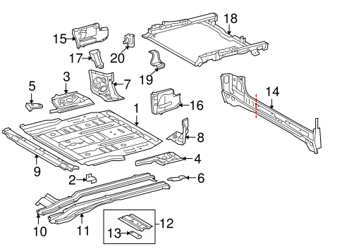 Slide Assembly Mount Bracket - Toyota (58457-35010)