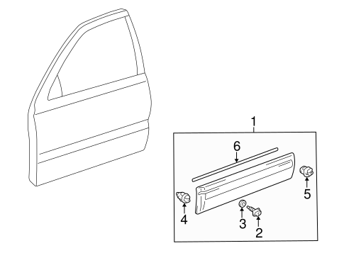 BODY/EXTERIOR TRIM - FRONT DOOR for 2000 Toyota 4Runner #1