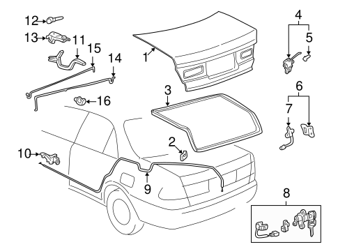 BODY/LID & COMPONENTS for 2001 Toyota Camry #1