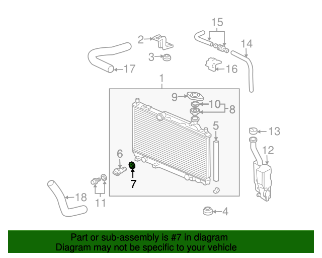 2001 Honda ACCORD SEDAN VP (SIDE SRS) GASKET, DRAIN (DENSO) - (19012671300)