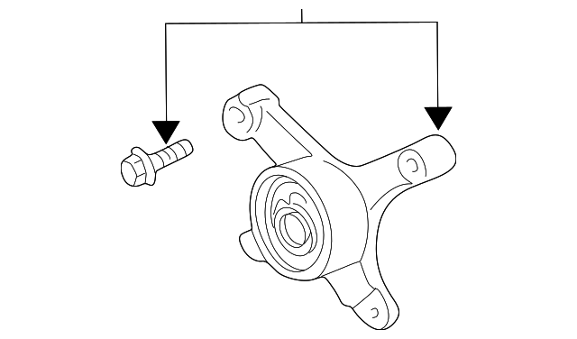 Tensioner Pulley Bracket - Mopar (5018400AB)