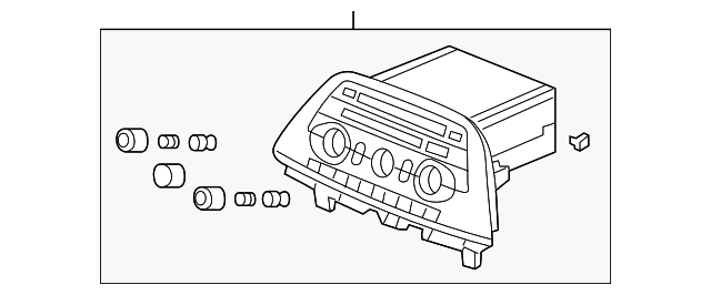 OEM Honda 39100-SHJ-X32 - AM/FM CD