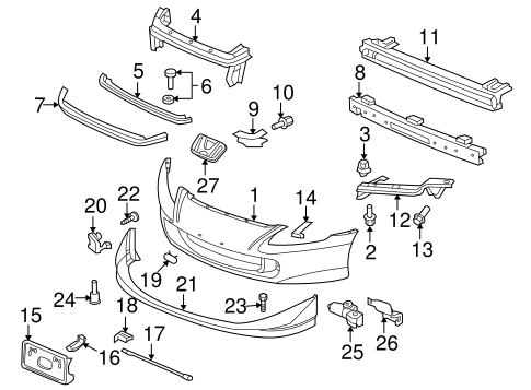 OEM Honda 71142-S2A-000 - Rod Bracket