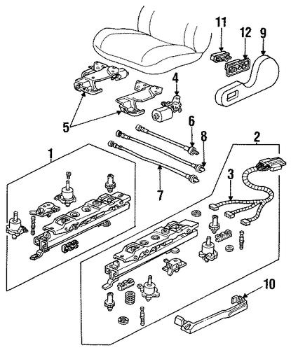 oem tracks  u0026 components for 1998 pontiac grand am