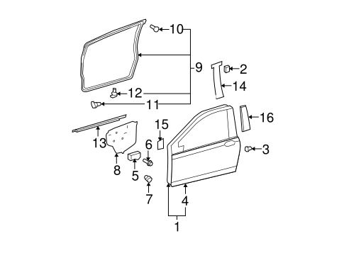 Door Weather-Strip - Toyota (67861-52160)
