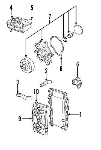 radiator  u0026 components for 2007 jeep liberty