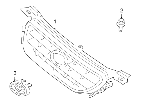 BODY/GRILLE & COMPONENTS for 2001 Toyota Camry #1