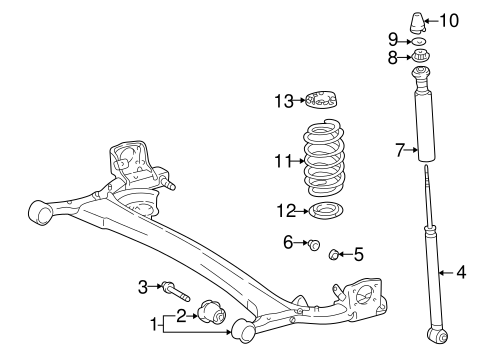 REAR SUSPENSION/REAR SUSPENSION for 2000 Toyota Echo #1