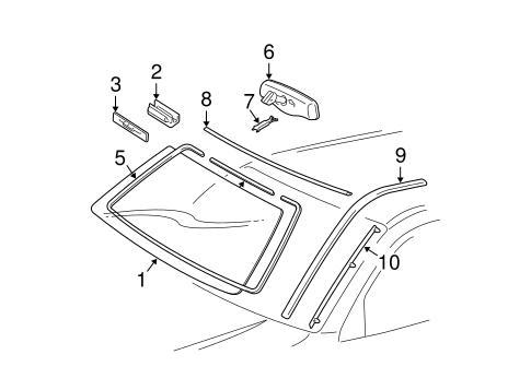 Windshield - Toyota (56101-35110)