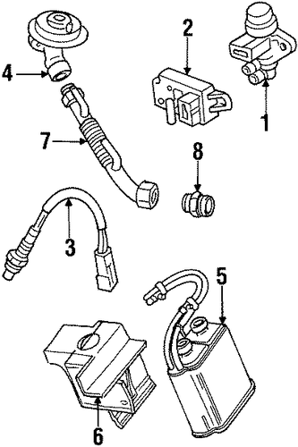 Ford Taurus 2000 Ford Taurus Power Steering Hose Replacement moreover Saturn Sl1 Engine Diagram Manifold as well F1az9f485a besides 1999 Mazda 626 Exhaust Diagram in addition  on 1996 ford contour exhaust manifold