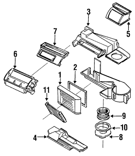 service manual  how to remove heater from a 1996