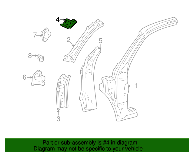 Reinforcement - Toyota (61136-34021)