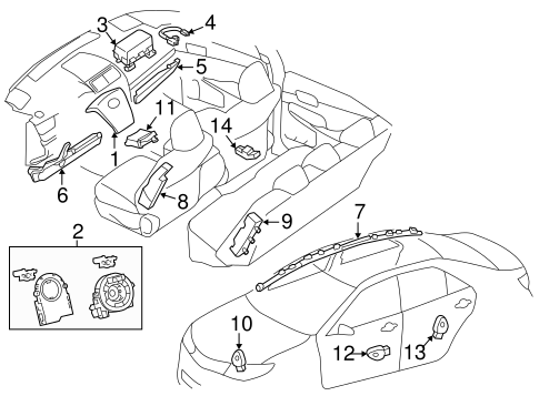 ELECTRICAL/AIR BAG COMPONENTS for 2013 Toyota Camry #1