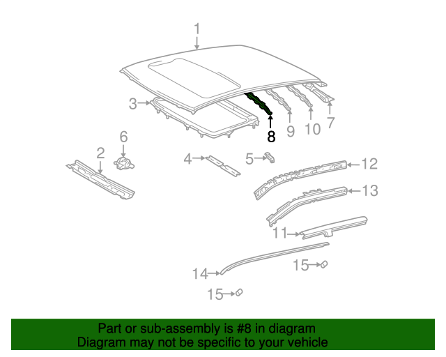 Roof Bow - Toyota (63143-52070)