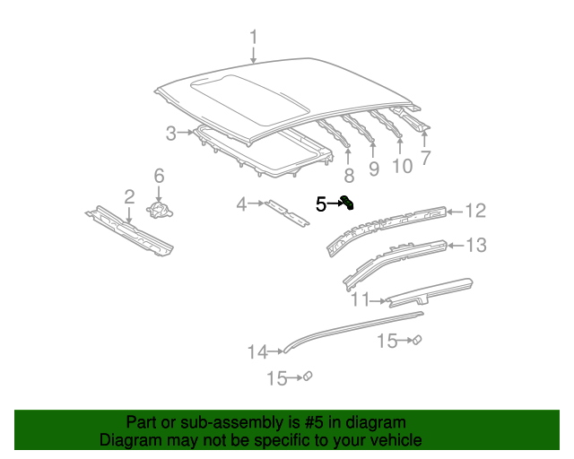 Sunroof Reinforced Support - Toyota (63118-52040)