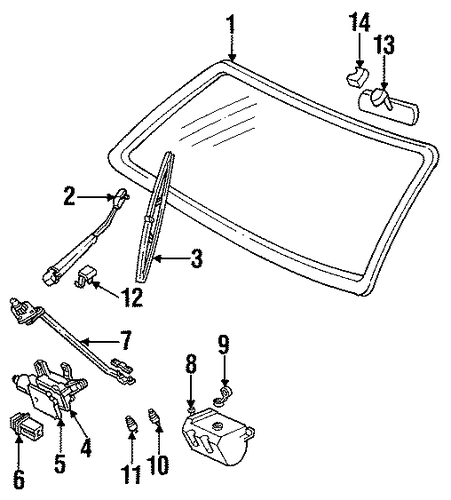 front wipers parts for 1996 chevrolet suburban c1500