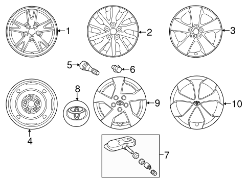 FRONT SUSPENSION/WHEELS for 2013 Toyota Prius #1