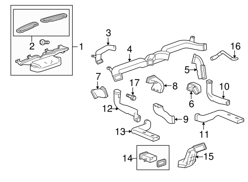 ducts parts for 2011 cadillac srx