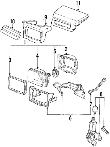 OEM Honda 33200-SB0-023 - Retractor Assembly