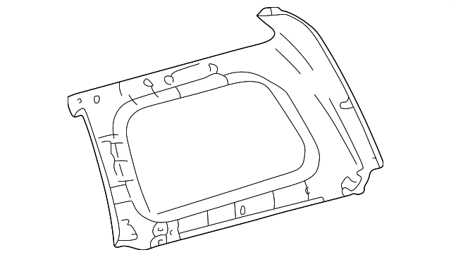 Upper Quarter Trim - Toyota (62480-60140-B0)