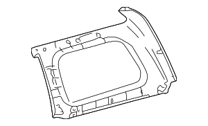 Upper Quarter Trim - Toyota (62480-60280-B1)