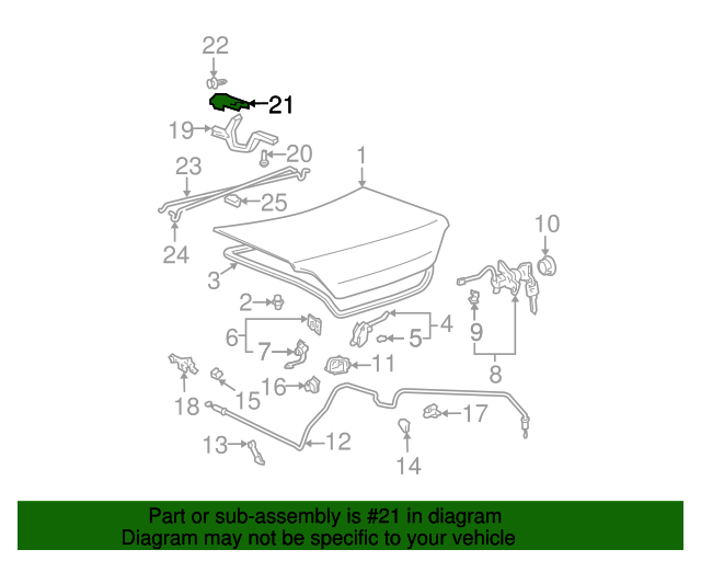 Hinge Support - Toyota (64512-AA010)