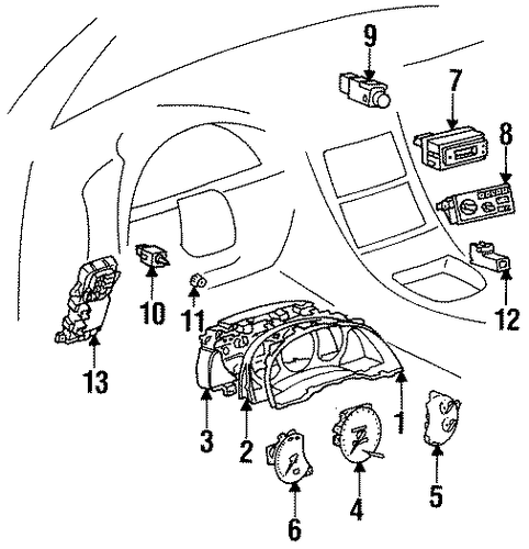ELECTRICAL/SWITCHES for 1996 Toyota Celica #2