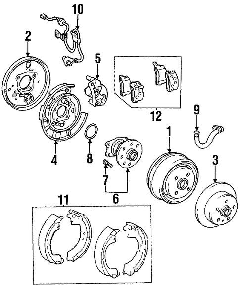 BRAKES/REAR BRAKES for 1998 Toyota Celica #1