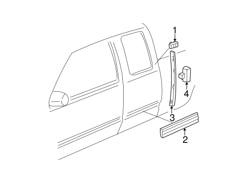 BODY/EXTERIOR TRIM - CAB for 1998 Chevrolet K1500 Pickup #2