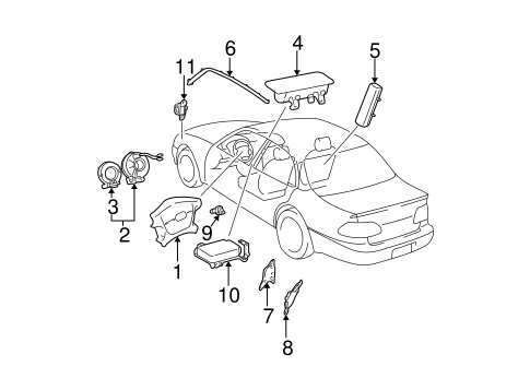 Head Air Bag - Toyota (62180-06011)