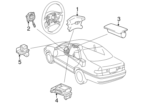 ELECTRICAL/AIR BAG COMPONENTS for 2000 Toyota Camry #1