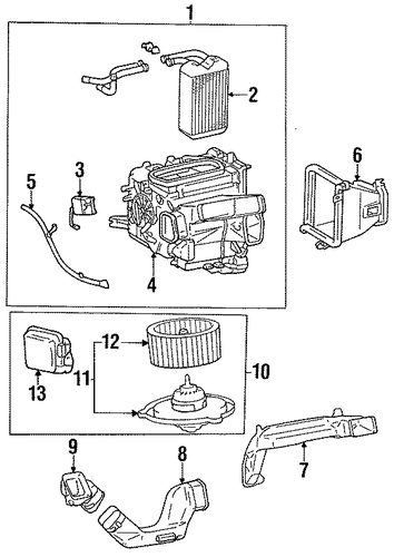 HVAC/HEATER COMPONENTS for 1999 Toyota Celica #1