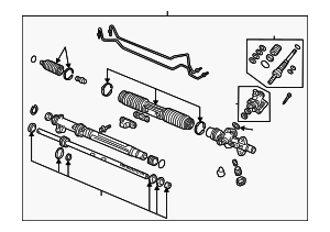 Rack Assembly, Power Steering - Honda (53601-S5D-A04)
