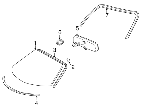 Windshield - Toyota (56101-17040)
